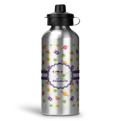 Girls Space Themed Water Bottle (Personalized)
