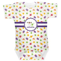 Girls Space Themed Baby Bodysuit (Personalized)