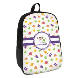 Girls Space Themed Kids Backpack (Personalized)
