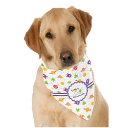 Girls Space Themed Dog Bandana Scarf w/ Name or Text