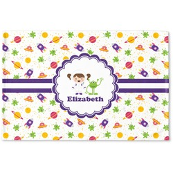 Girls Space Themed Woven Mat (Personalized)