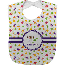 Girls Space Themed Baby Bib (Personalized)