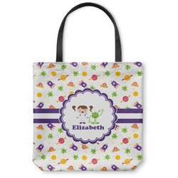 Girls Space Themed Canvas Tote Bag (Personalized)