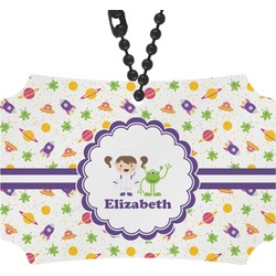 Girls Space Themed Rear View Mirror Ornament (Personalized)
