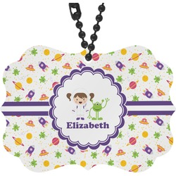 Girls Space Themed Rear View Mirror Charm (Personalized)