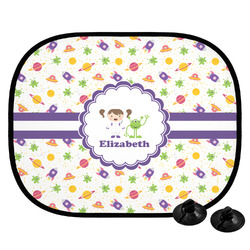 Girls Space Themed Car Side Window Sun Shade (Personalized)