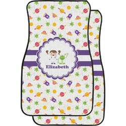 Girls Space Themed Car Floor Mats (Front Seat) (Personalized)