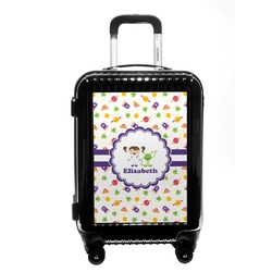 Girls Space Themed Carry On Hard Shell Suitcase (Personalized)