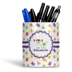 Girls Space Themed Ceramic Pen Holder