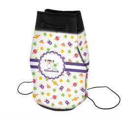 Girls Space Themed Neoprene Drawstring Backpack (Personalized)