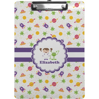 Girls Space Themed Clipboard (Personalized)