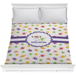 Girls Space Themed Comforter (Personalized)