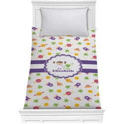 Girls Space Themed Comforter - Twin (Personalized)