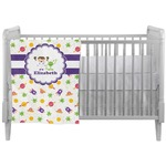 Girls Space Themed Crib Comforter / Quilt (Personalized)
