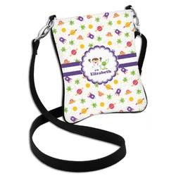 Girls Space Themed Cross Body Bag - 2 Sizes (Personalized)