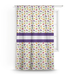 """Girls Space Themed Curtain - 50""""x84"""" Panel (Personalized)"""