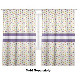 """Girls Space Themed Curtains - 40""""x54"""" Panels - Unlined (2 Panels Per Set) (Personalized)"""