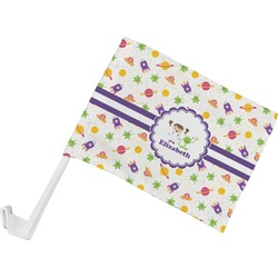 Girls Space Themed Car Flag (Personalized)