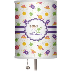 """Girls Space Themed 7"""" Drum Lamp Shade (Personalized)"""