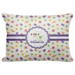 """Girls Space Themed Decorative Baby Pillowcase - 16""""x12"""" (Personalized)"""