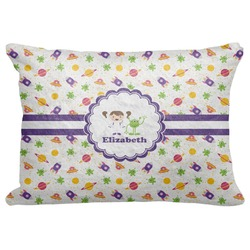 "Girls Space Themed Decorative Baby Pillowcase - 16""x12"" (Personalized)"