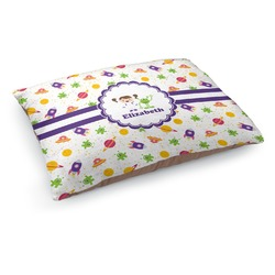 Girls Space Themed Dog Pillow Bed (Personalized)