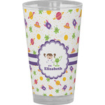 Girls Space Themed Drinking / Pint Glass (Personalized)