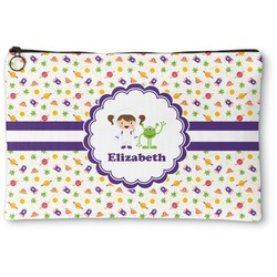 Girls Space Themed Zipper Pouch (Personalized)