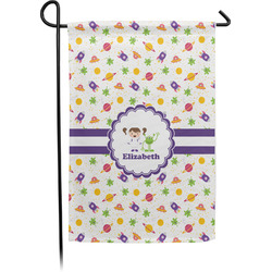 Girls Space Themed Garden Flag - Single or Double Sided (Personalized)