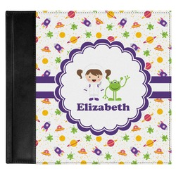 Girls Space Themed Genuine Leather Baby Memory Book (Personalized)