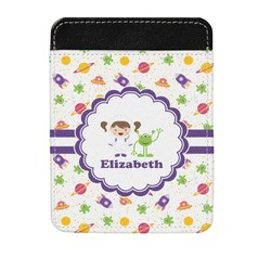 Girls Space Themed Genuine Leather Money Clip (Personalized)