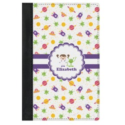 Girls Space Themed Genuine Leather Passport Cover (Personalized)