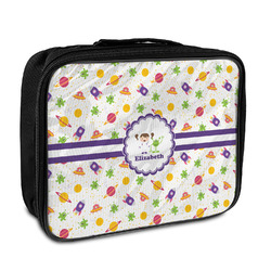 Girls Space Themed Insulated Lunch Bag (Personalized)