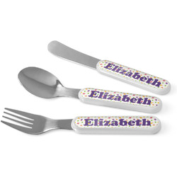 Girls Space Themed Kid's Cutlery (Personalized)