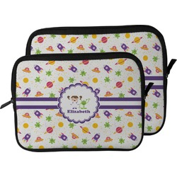 Girls Space Themed Laptop Sleeve / Case (Personalized)