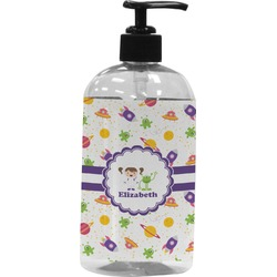 Girls Space Themed Plastic Soap / Lotion Dispenser (Personalized)