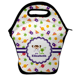 Girls Space Themed Lunch Bag w/ Name or Text