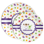 Girls Space Themed Melamine Plate (Personalized)