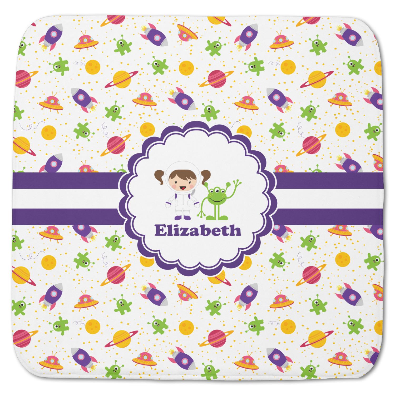 Girls Space Themed Memory Foam Bath Mat Personalized