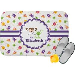 Girls Space Themed Memory Foam Bath Mat (Personalized)