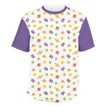 Girls Space Themed Men's Crew T-Shirt (Personalized)