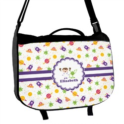 Girls Space Themed Messenger Bag (Personalized)