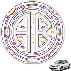 Girls Space Themed Monogram Car Decal (Personalized)