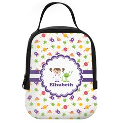Girls Space Themed Neoprene Lunch Tote (Personalized)