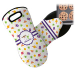 Girls Space Themed Neoprene Oven Mitt (Personalized)
