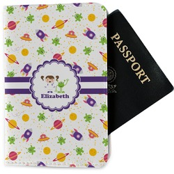 Girls Space Themed Passport Holder - Fabric (Personalized)