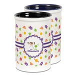 Girls Space Themed Ceramic Pencil Holder - Large