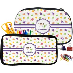 Girls Space Themed Pencil / School Supplies Bag (Personalized)