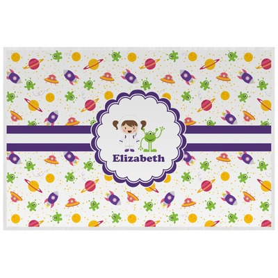 Girls Space Themed Laminated Placemat w/ Name or Text