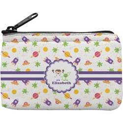 Girls Space Themed Rectangular Coin Purse (Personalized)